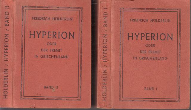 Hyperion oder Der Eremit in Griechenland erster und zweiter Teil 2 Miniaturbücher