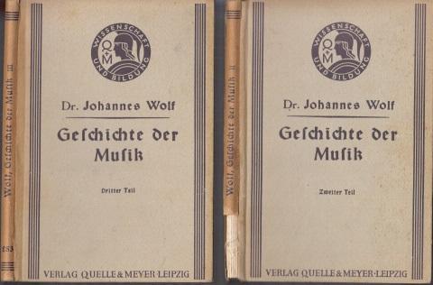 Geschichte der Musik in allgemeinverständlicher Form zweiter und dritter Teil 2 Bücher