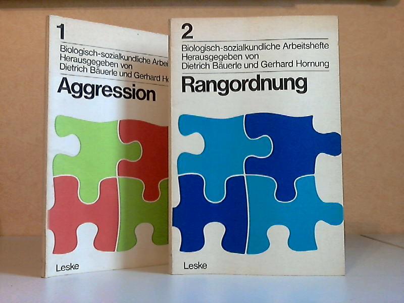 Aggression - Rangordnung - Biologisch-sozialkundliche Arbeitshefte 1 und 2 2 Arbeitshefte