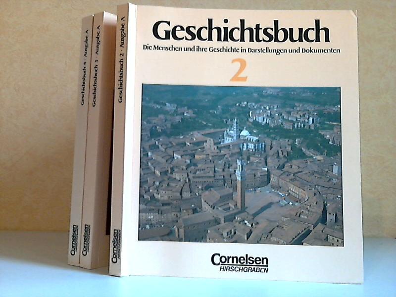 Geschichtsbuch 2, 3, 4 - Die Menschen und ihre Geschichte in Darstellungen und Dokumenten 3 Bücher
