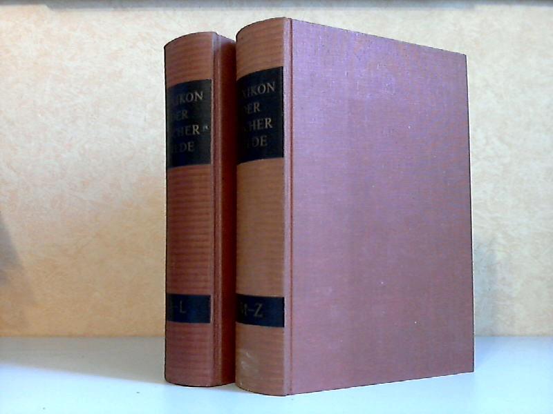 Lexikon der Büchergilde in zwei Bänden Mit über 2000 Abbildungen, darunter 64 Seiten einfarbige Tafeln, 32 Seiten vierfarbige Tafeln und 32 Seiten Karten