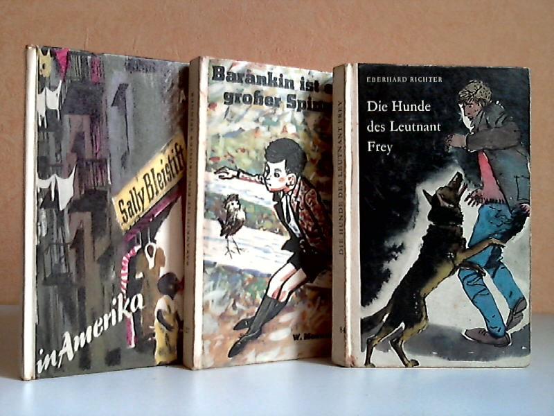 Sally Bleistift in Amerika - Barankin ist ein großer Spion - Die Hunde des Leutnant Frey 3 Bücher - Illustrationen nach den Vorlagen von Alex Keil , Illustrationen von Heinz Rodewald , Illustrationen Karl Fischer
