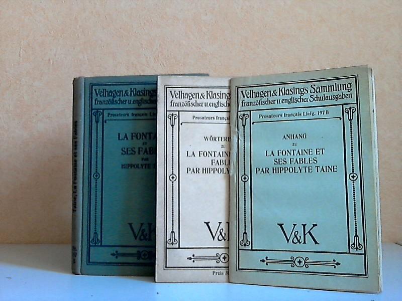 La Fontaine et ses Fables par Hippolyte Taine + Anhang + Wörterbuch