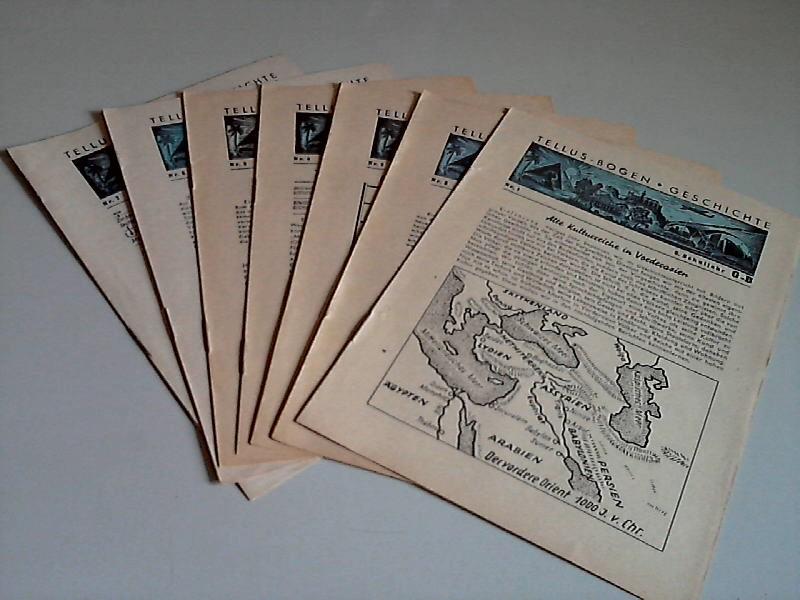 Tellus-Bogen Geschichte Nr. 1 bis 7 - 6. Schulfahr G-B 7 Bögen