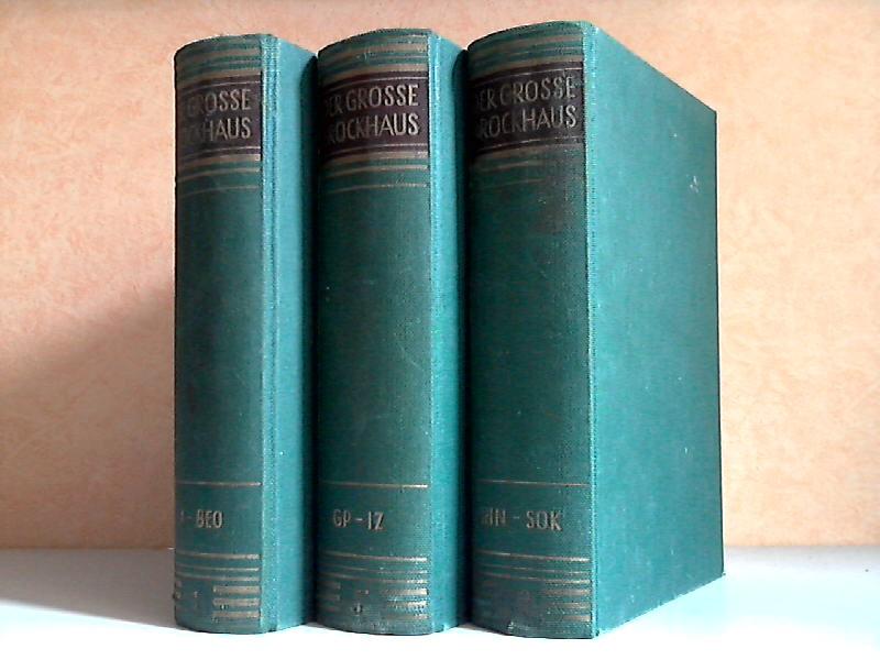 Der grosse Brockhaus in zwölf Bänden - Band 1, 5, 10 3 Bücher