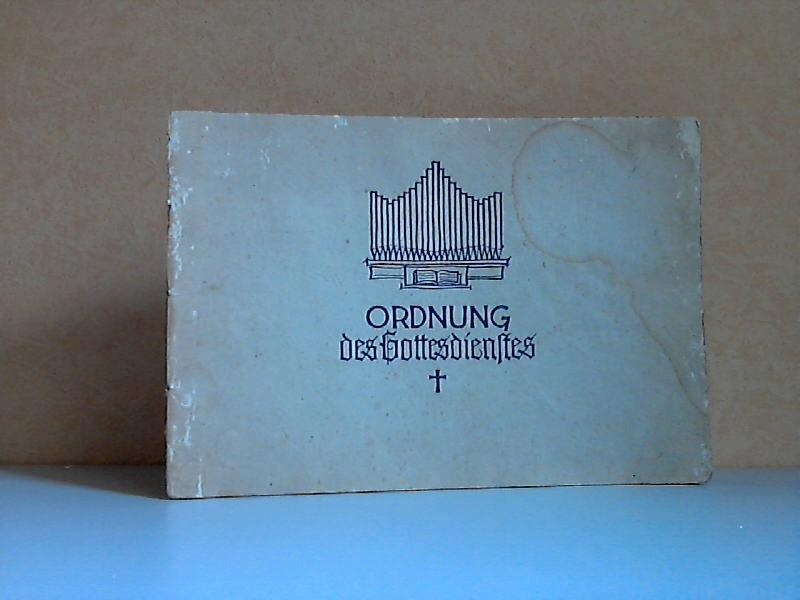 Ordnung des Gottesdienstes der Evangelisch-Lutherischen Kirche in Thüringen - 17. Singheft des Thüringer Kirchenchorwerkes