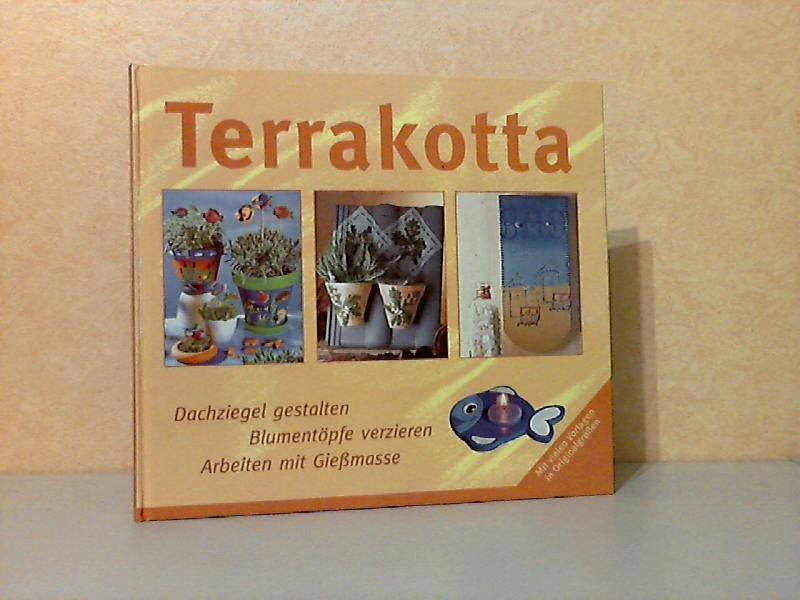 Terrakotta - Dachziegel gestalten, Blumentöpfe verzieren, Arbeiien mit Gießmasse