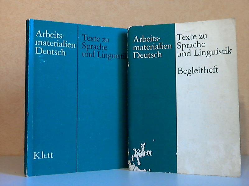 Texte zu Sprache und Linguistik + Texte zu Sprache und Linguistik, Begleitheft 2 Bücher, Arbeitsmaterialien Deutsch