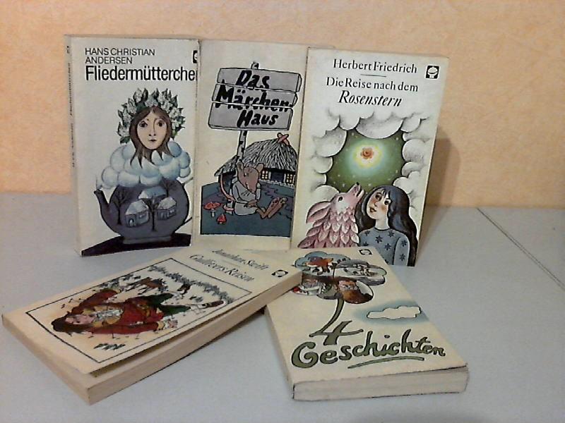 Fliedermütterchen + Das Märchenhaus + Die Reise nach dem Rosenstern + Gullivers Reisen + 4 Geschichten 5 Bücher