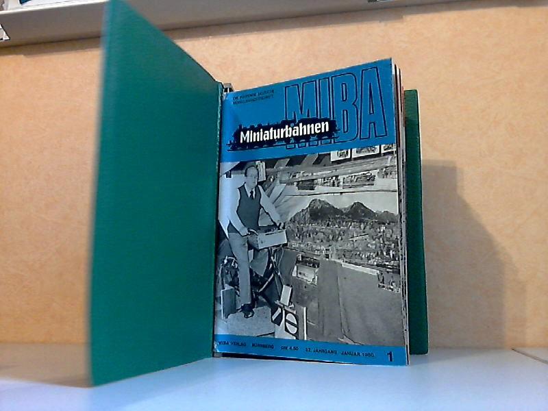 MIBA Miniaturbahnen Heft 1 bis 12, 32. Jahrgang 1980