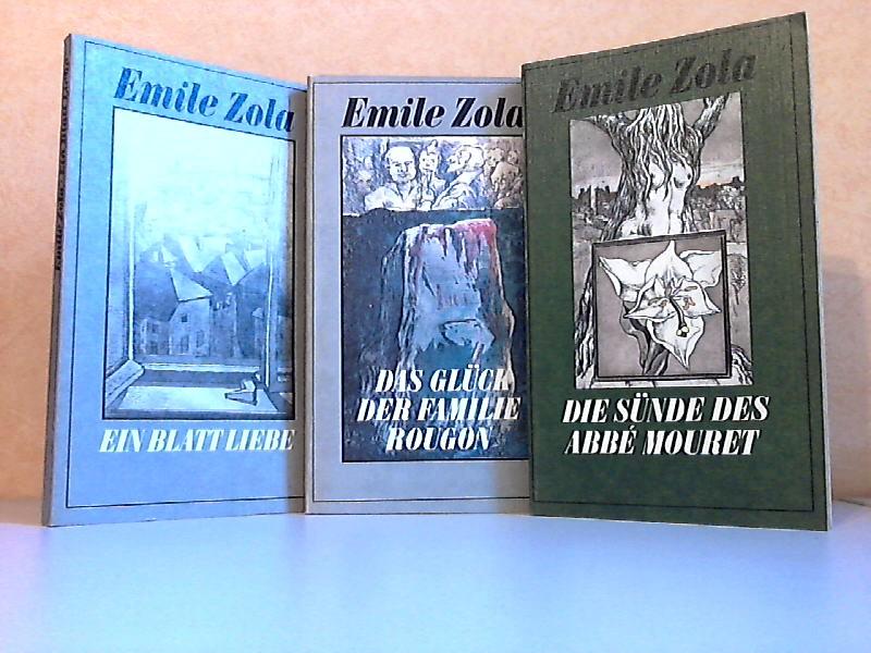 Die Sünde des Abbé Mouret + Das Glück der Familie Rougon + Ein Blatt Liebe - Natur- und Sozialgeschichte einer Familie unter dem Zweiten Kaiserreich 3 Romane