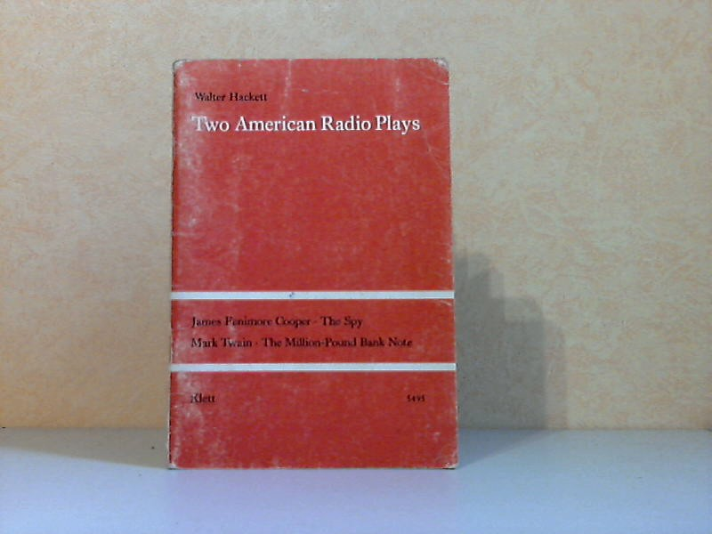Two American Radio Plays - Adapted from stories