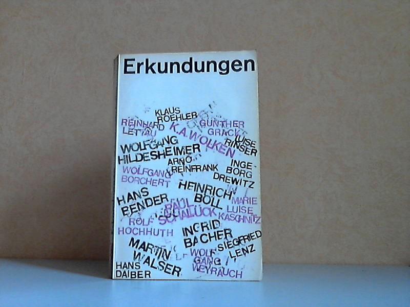 Erkundungen - 19 westdeutsche Erzähler