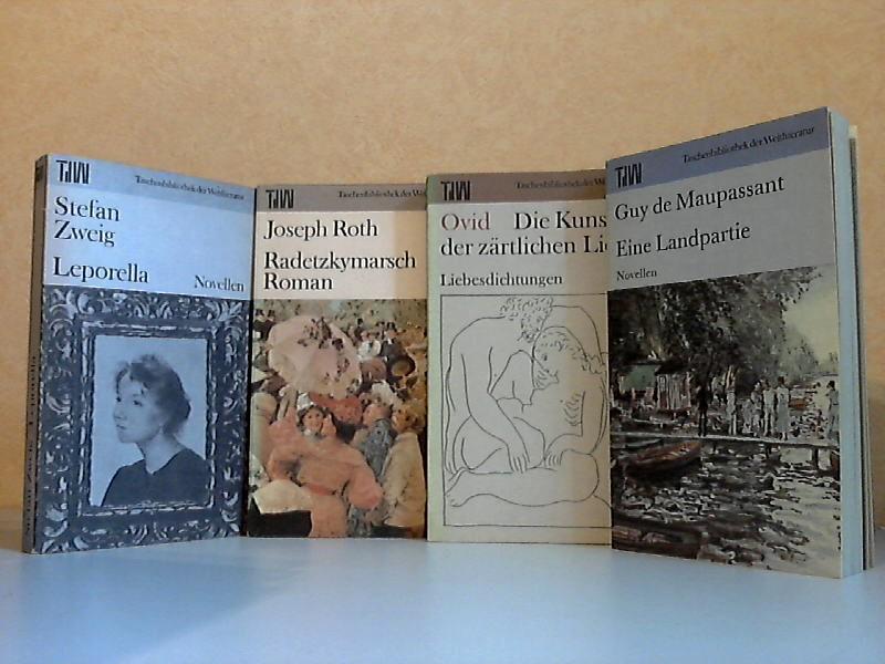 Leporella - Radetzkymarsch - Die Kunst der zärtlichen Liebe - Eine Landpartie 4 Bücher - Taschenbibliothek der Weltliteratur