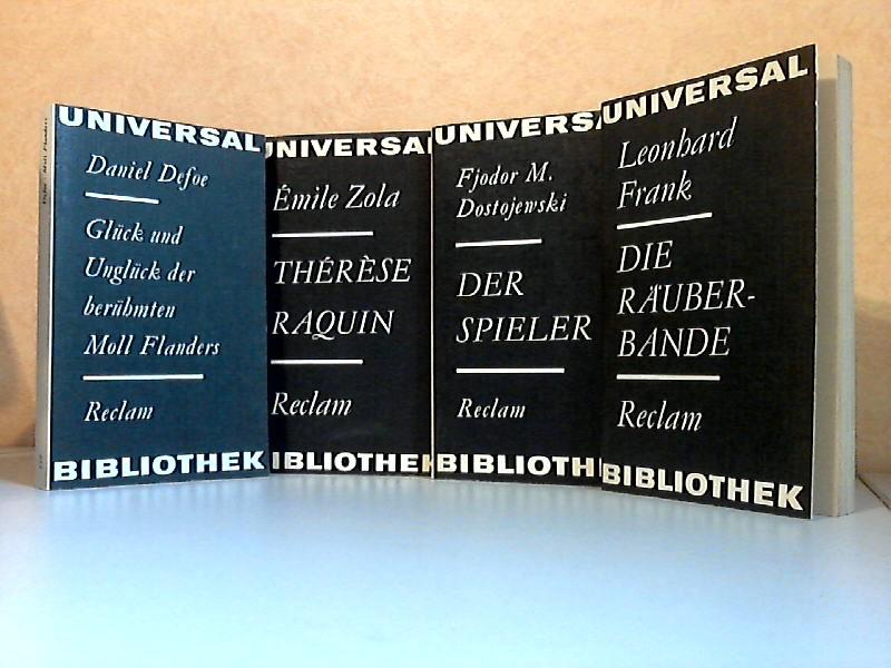Glück und Unglück der berühmten Moll Flanders - Therese Raquin - Der Spieler - Die Räuberbande 4 Bücher