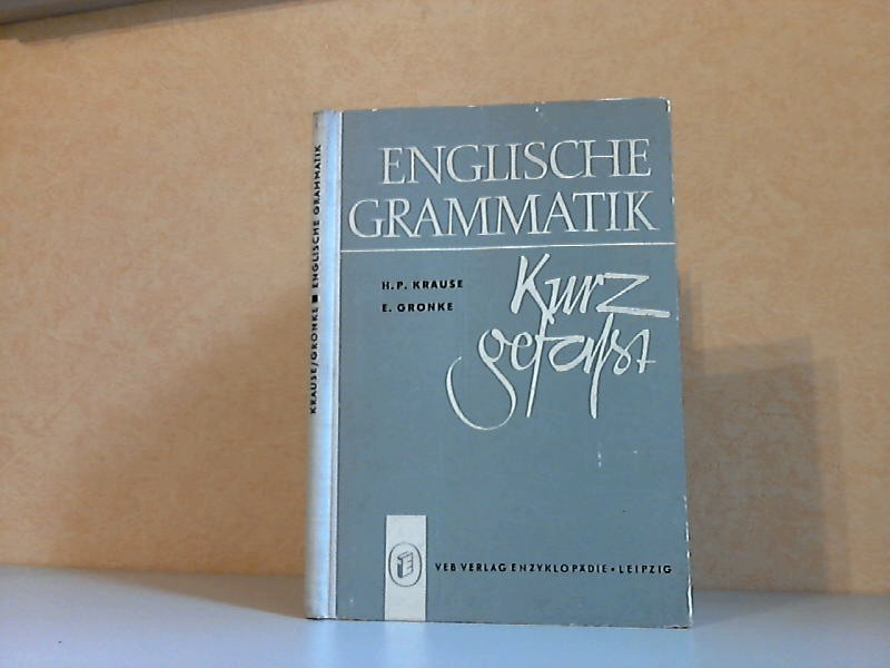 Englische Grammatik kurzgefasst
