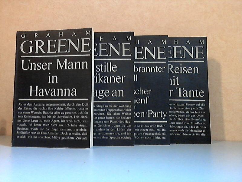 Unser Mann in Havanna - Der stille Amerikaner; Ich klage an - Ein augebrannter Fall; Dr. Fischer aus Genf oder Die Bomben-Party - Die Reisen mit meiner Tante 4 Bücher