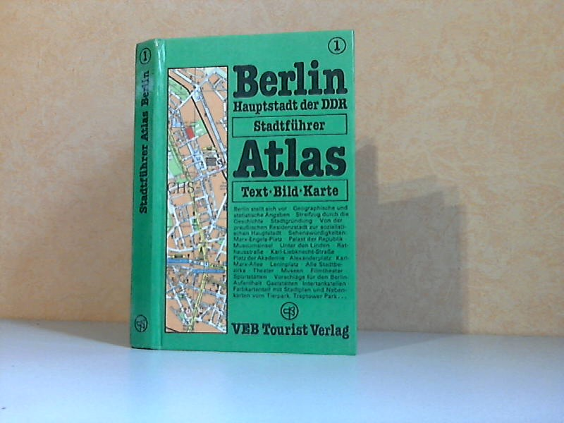 Berlin, Hauptstadt der DDR - TOURIST Stadtführer-Atlas