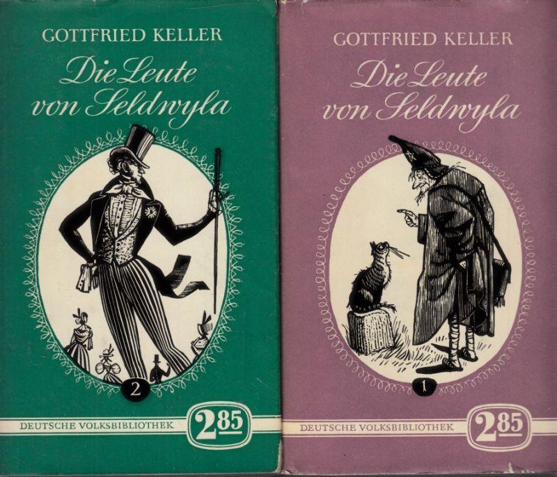 Die Leute von Seldwyla - erster Band und zweiter Band 2 Bücher