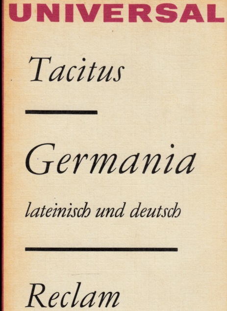 Germania lateinisch und deutsch Reclams Universal-Bibliothek Band 726