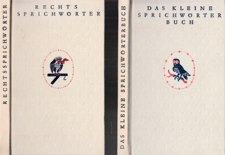 Rechts Sprichwörterbuch - Das kleine Sprichwörterbuch 2 Bücher