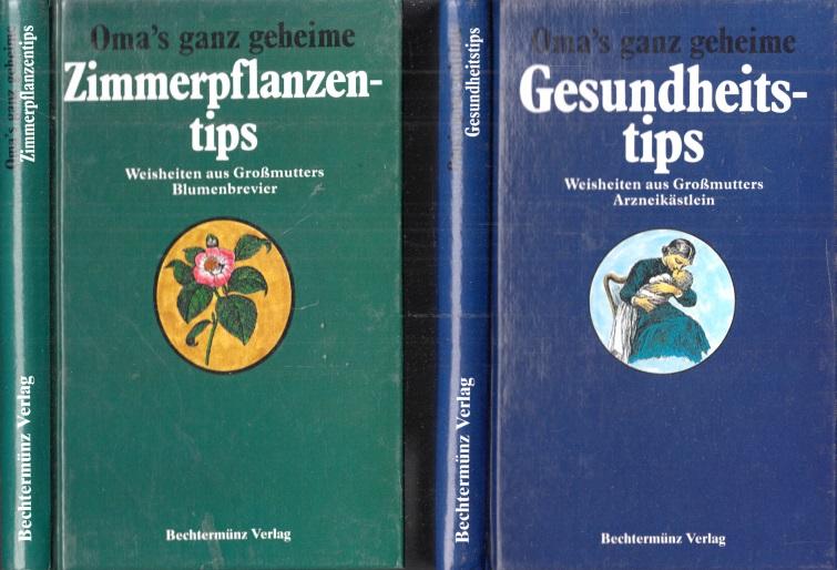 Oma`s ganz geheime Zimmerpflanzentips + Oma`s ganz geheime Gesundheitstips 2 Bücher