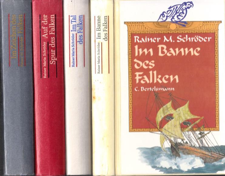 Im Zeichen des Falken - Auf der Spur des Falken - Im Banne des Falken - Im Tal des Falken Band 1 bis 4