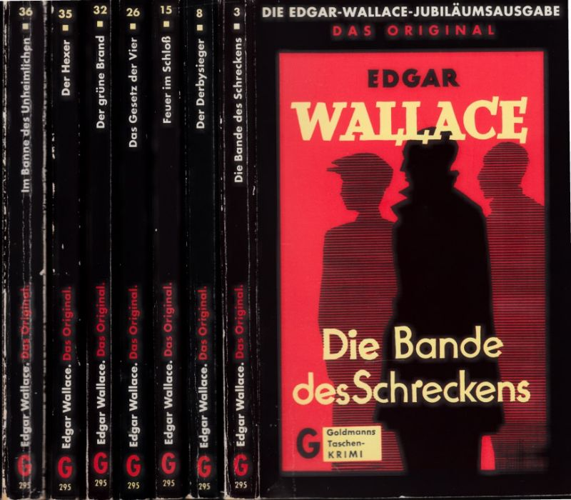 Die Bande des Schreckens - Der Derbysieger - Feuer im Schloß - Das Gesetz der Vier - Der grüne Brand - Der Hexer - Im Banne des Unheimlichen 7 Bücher - Goldmanns Taschen-KRIMI - Das Original