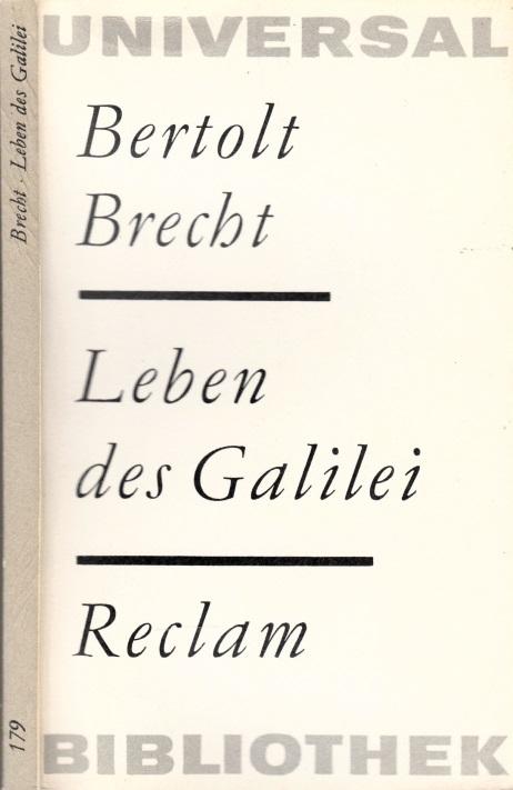 Leben des Galilei Mit Anmerkungen Brechts