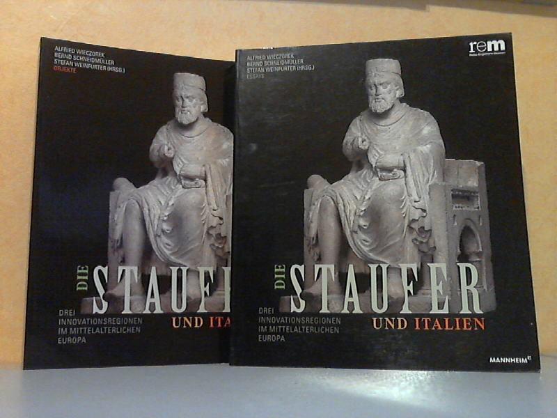 Die Staufer und Italien. Drei Innovationsregionen im mittelalterlichen Europa. Band 1: Essays. Band 2: Objekte 2 Bücher