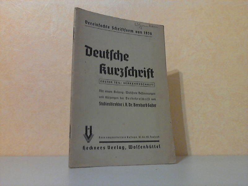 Lehrbuch der Deutschen Kurzschrift Teil 1: Verkehrsschrift