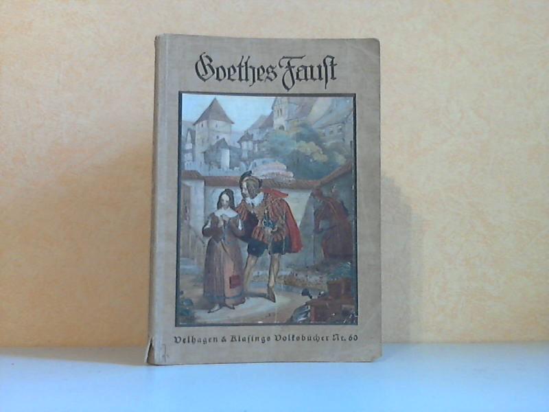 Goethes Faust - Ein Buch der Einführung und Einfühlung mit 40 Abbildungen und einem farbigen Umschlagbild