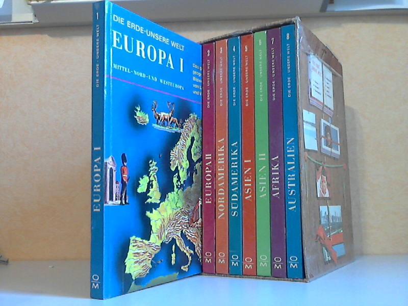 Die Erde, unsere Welt - 8 Bände - Das große geographische Bildwerk von Ländern und Völkern übertragen von Wiltrud Bichsel-Kessler - Bearbeitet von Luise Kurz