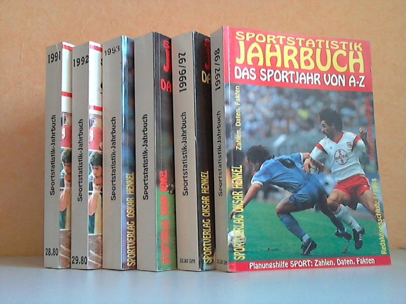 Sportstatistik Jahrbuch - Das Sportjahr 1991, 1992, 1994, 1995, 1996/97, 1997/98 von A bis Z 6 Bücher