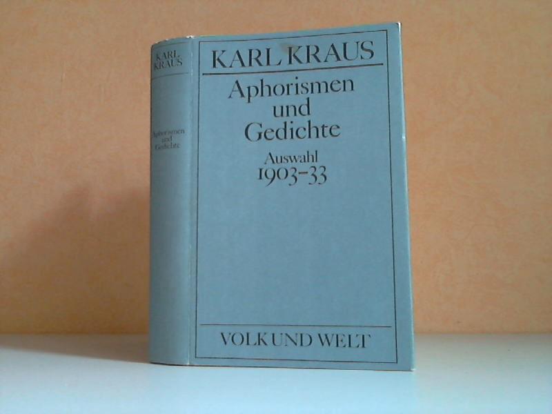 Ausgewählte Werke Band 4: Aphorismen und Gedichte, Auswahl 1903-1933