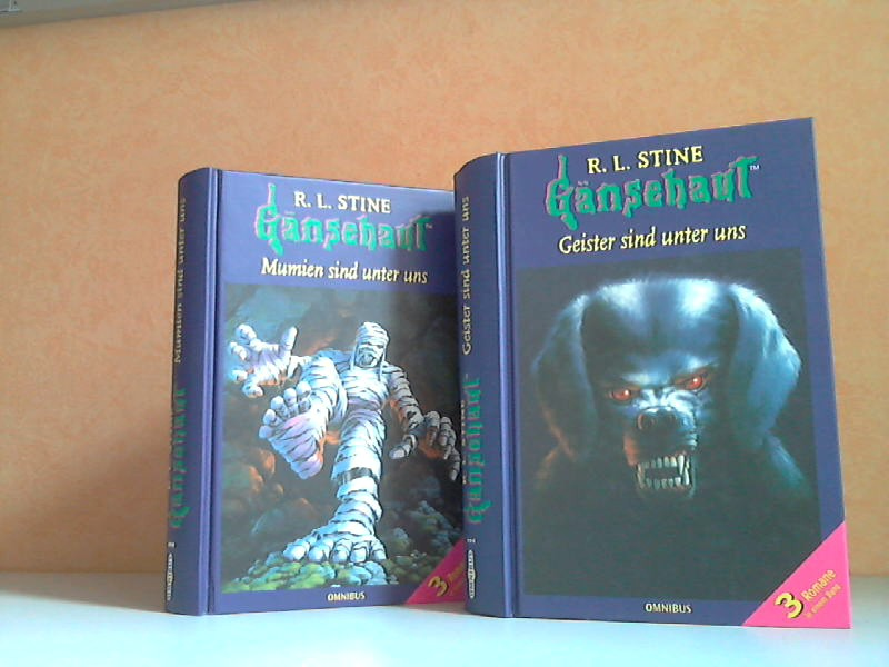 Gänsehaut: Mumien sind unter uns + Geister sind unter uns - Das Supergruselbuch 3 Bücher
