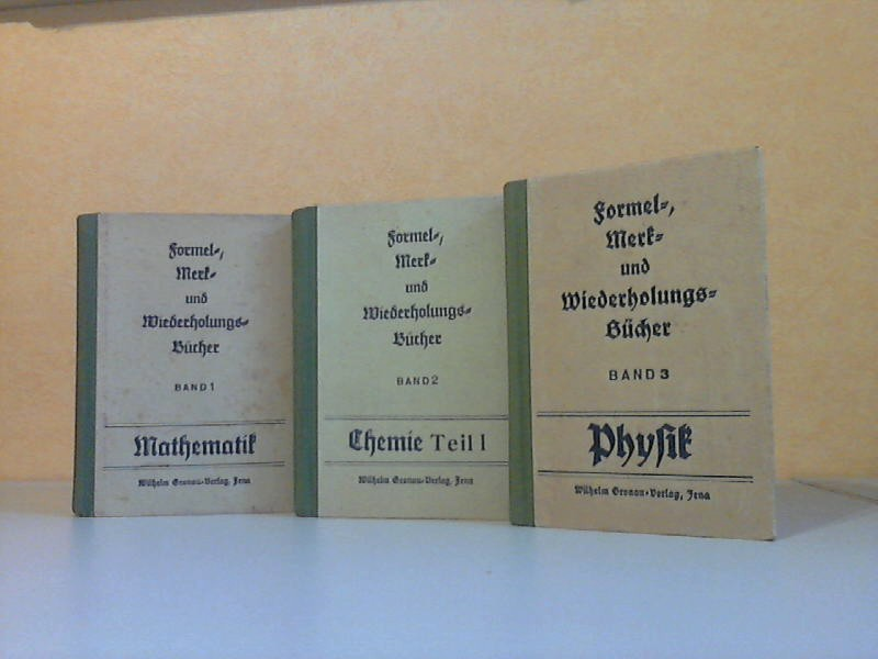 Formel-, Merk- und Wiederholungsbücher, Band 1 bis 3 3 Bücher