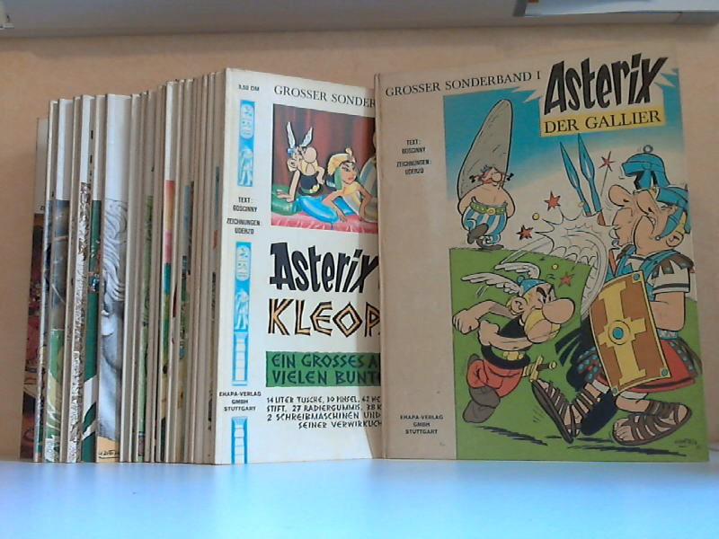 Asterix der Gallier grosser Sonderband 1, 2 + grosser Asterix-Band 3, 4, 5, 6, 7, 8, 9, 10, 11, 12, 13, 15, 16, 17, 18, 19, 20, 21, 22, 23, 24 23 Heftchen mit Zeichnungen von Uderzo