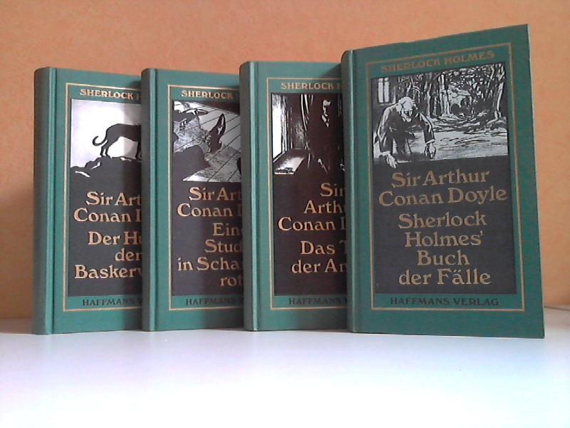 Der Hund der Baskervilles - Eine Studie in Scharlachrot - Das Tal der Angst - Sherlock Holmes' Buch der Fälle 4 Bücher - neu übersetzt von Gisbert Haefs