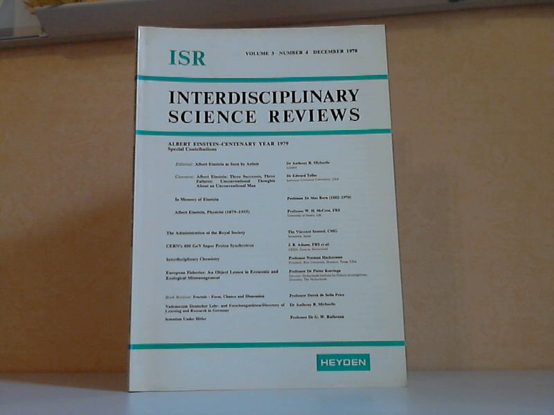 Interdisciplinary science reviews - Volume 3, Number 4, December 1978