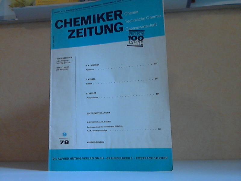 Chemiker Zeitung 9/78