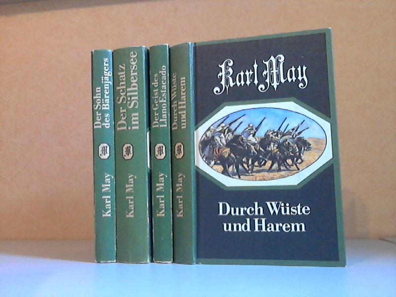Der Sohn des Bärenjägers - Der Schatz am Silbersee - Der Geist des Llano Estacado - Durch Wüste und Harem 4 Bücher