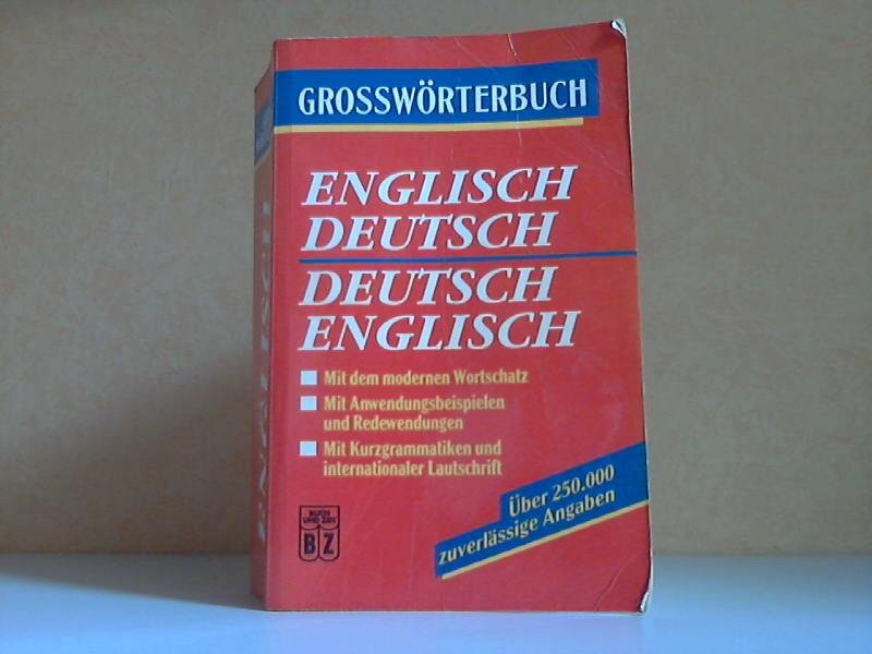 Grosswörterbuch Englisch-Deutsch, Deutsch-Englisch
