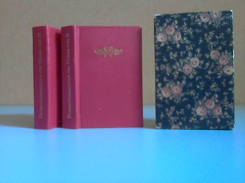 Denkwürdigkeiten des Herrn von H. erster und zweiter Band (Miniaturbücher) Mit jeweils sieben und zehn Illustrationen nach Kupferstichen von Louis Binet