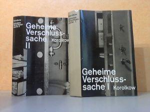 Geheime Verschlußsache Erster und Zweiter Band 2 Bücher