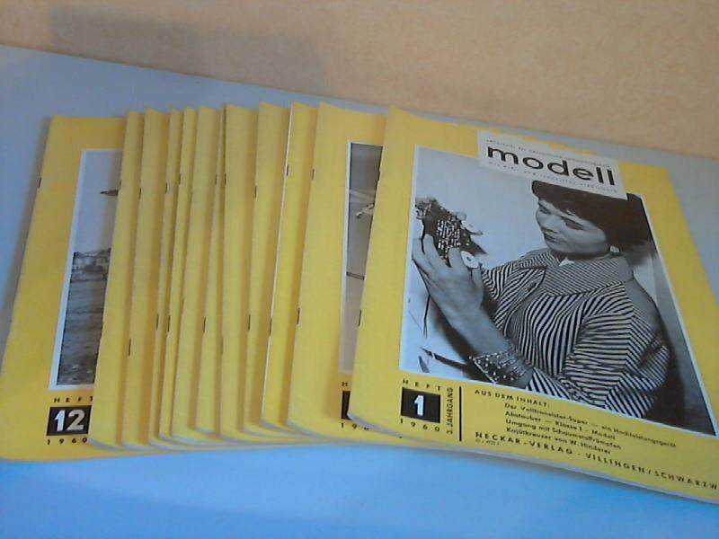 Modell Zeitschrift für neuzeitliche Selbstbautechnik mit R/C- und Transistor-Elektronik - 3. Jg. Hefte 1 bis 12/1960 12 Hefte