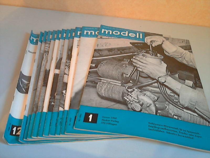 Modell Zeitschrift für neuzeitliche Selbstbautechnik mit R/C- und Transistor-Elektronik - 7. Jg. Hefte 1 bis 12/1964 12 Hefte