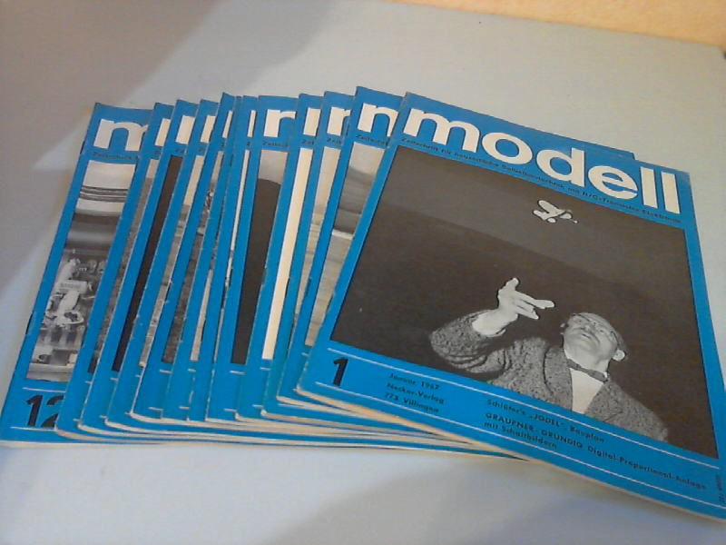 Modell Zeitschrift für neuzeitliche Selbstbautechnik mit R/C- und Transistor-Elektronik - 10. Jg. Hefte 1 bis 12/1967 12 Hefte