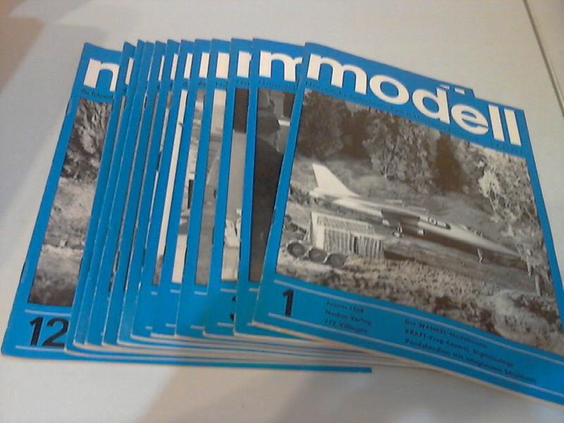 Modell Zeitschrift für neuzeitliche Selbstbautechnik mit R/C- und Transistor-Elektronik - 11. Jg. Hefte 1 bis 12/1968 12 Hefte