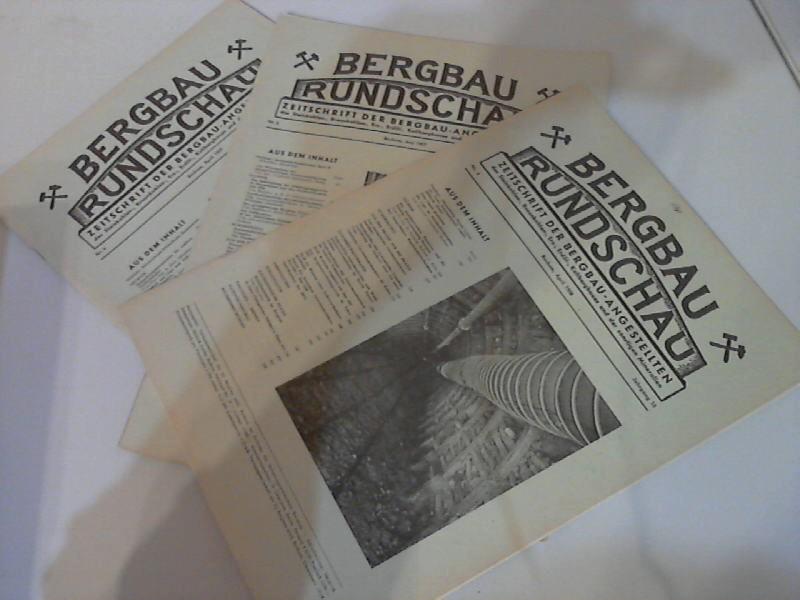 Bergbau Rundschau - Zeitschrift der Bergbau-Angestellten des Steinkohlen-, Braunkohlen-, Erz-, Erdöl-, Kalibergbaues und der sonstigen Mineralien Nr. 4, Nr. 6/1957, Nr. 4/1958 3 Hefte 0